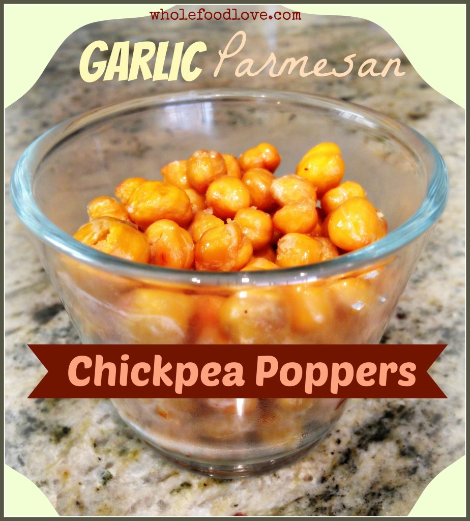 WFL Garlic Parmesan Chickpea Poppers