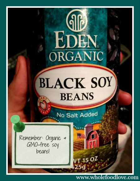 WFL Organic black soy beans