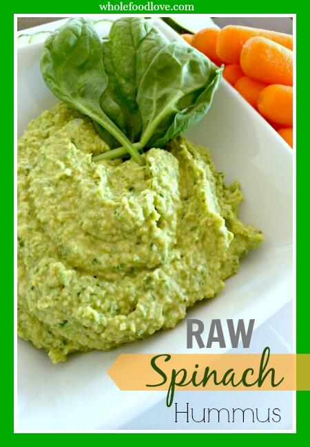 Whole Food Love Raw Spinach Hummus 5