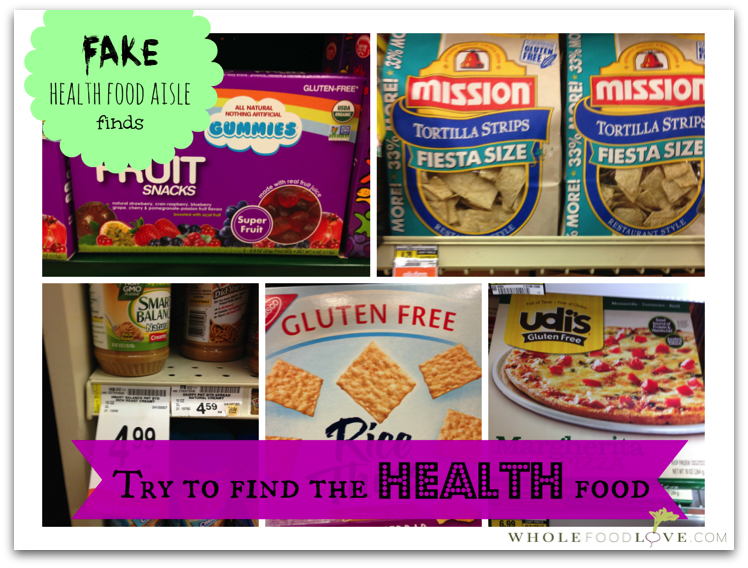 Fake health food aisle