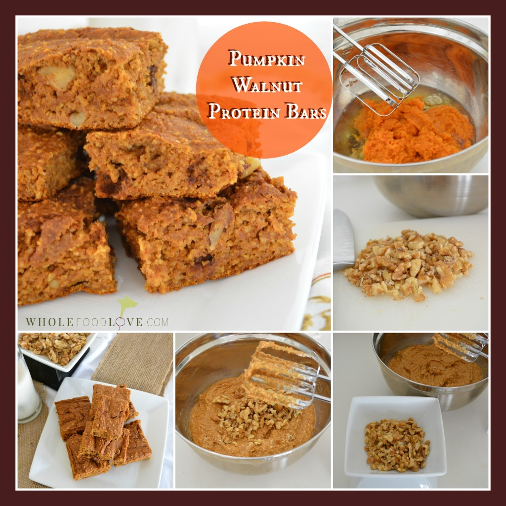 WFL Pumpkin Walnut Protein Bars Collage 2